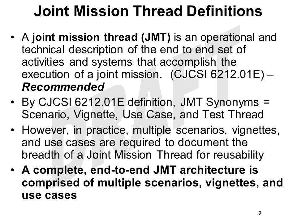 Joint Mission Thread Definitions