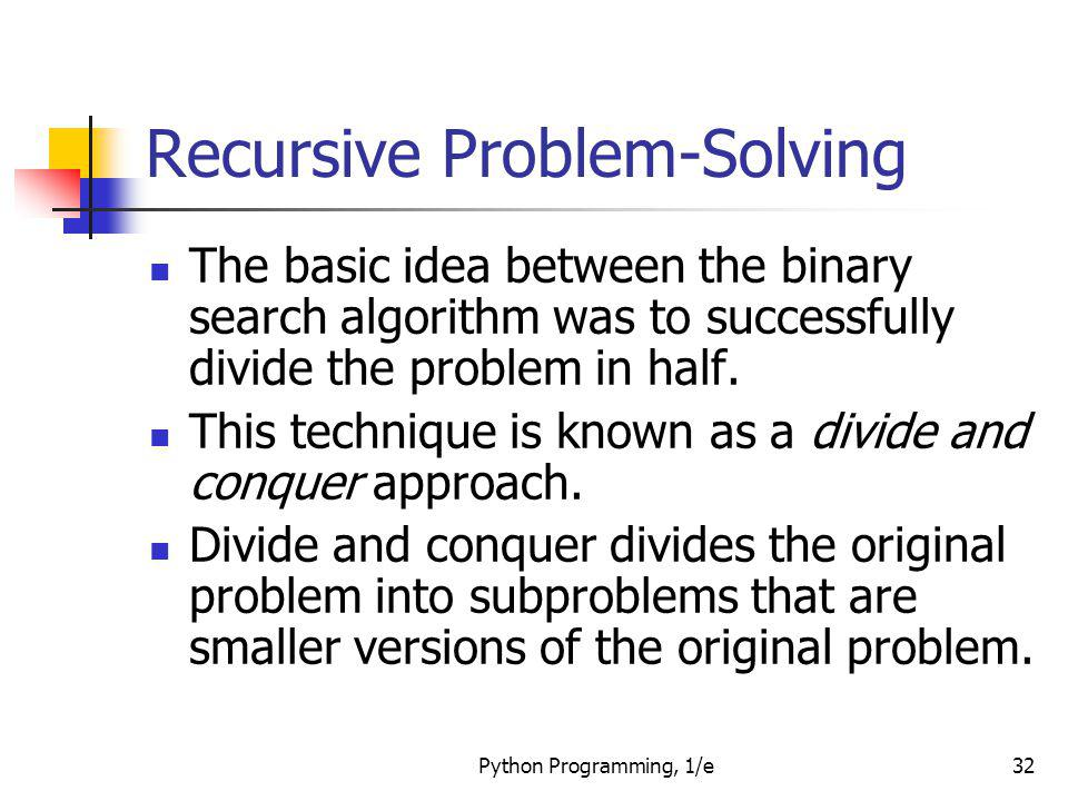 Recursive Problem-Solving