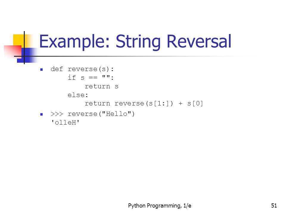 Example: String Reversal