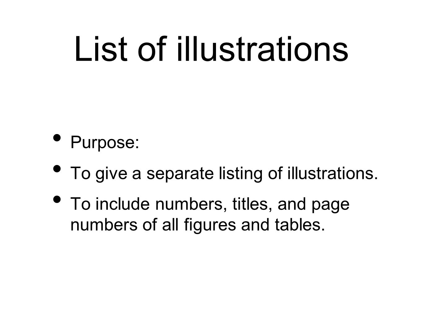 List of illustrations Purpose: