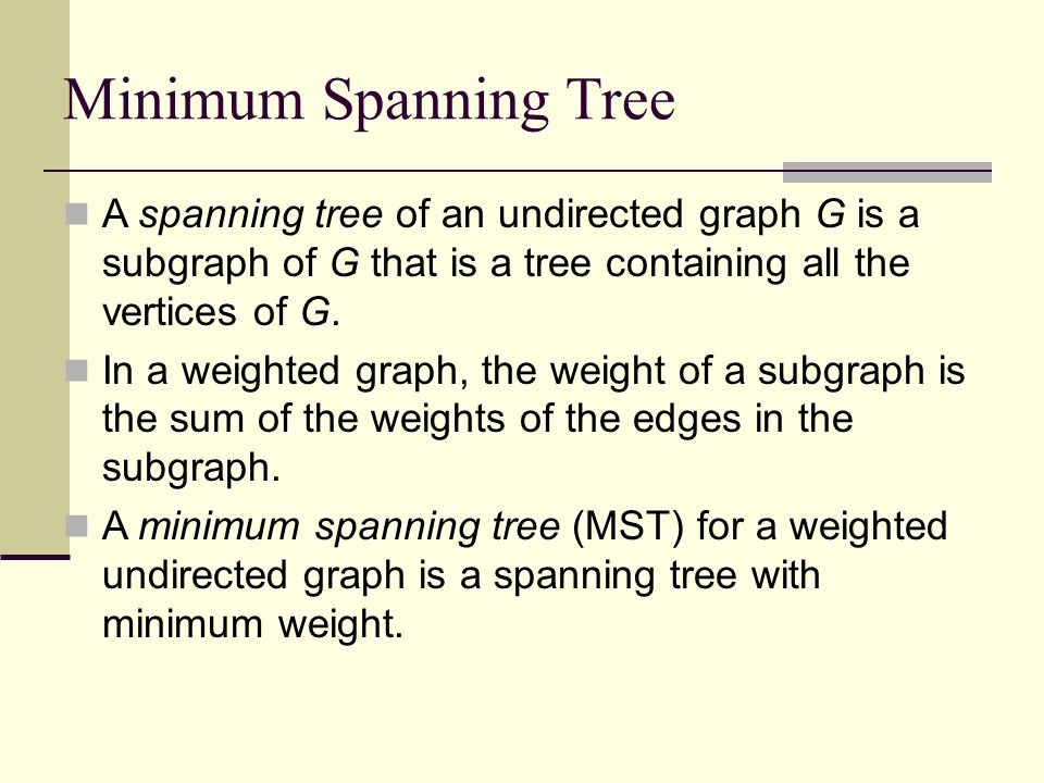 Talk at U of Maryland Minimum Spanning Tree.