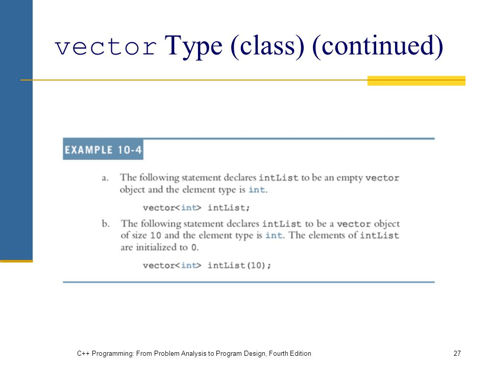 vector Type (class) (continued)