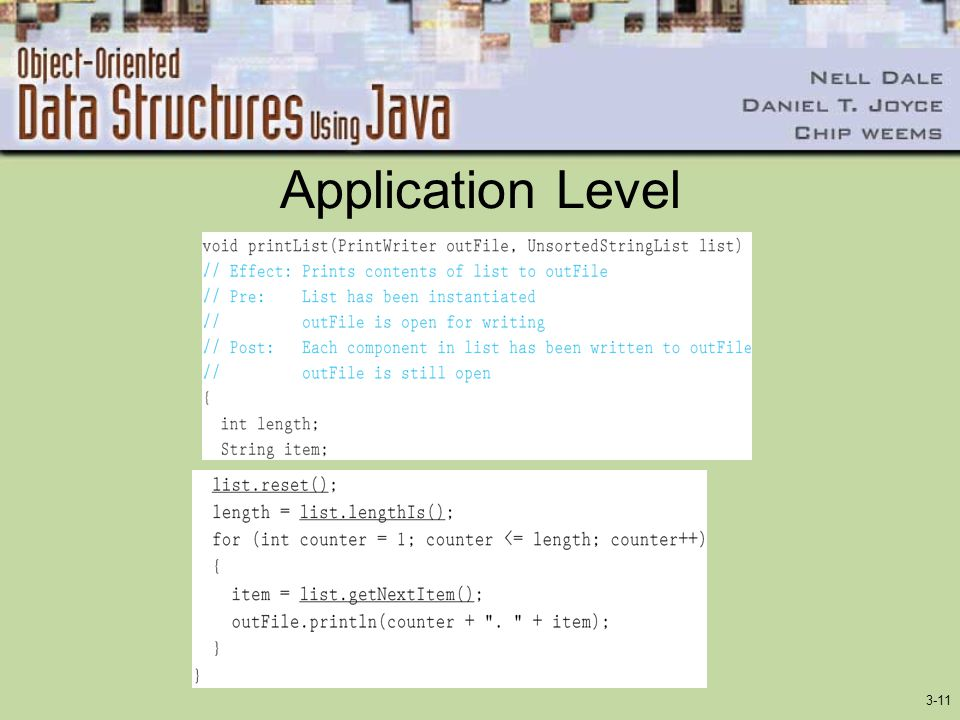 Application Level