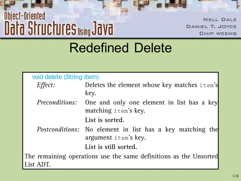 Redefined Delete