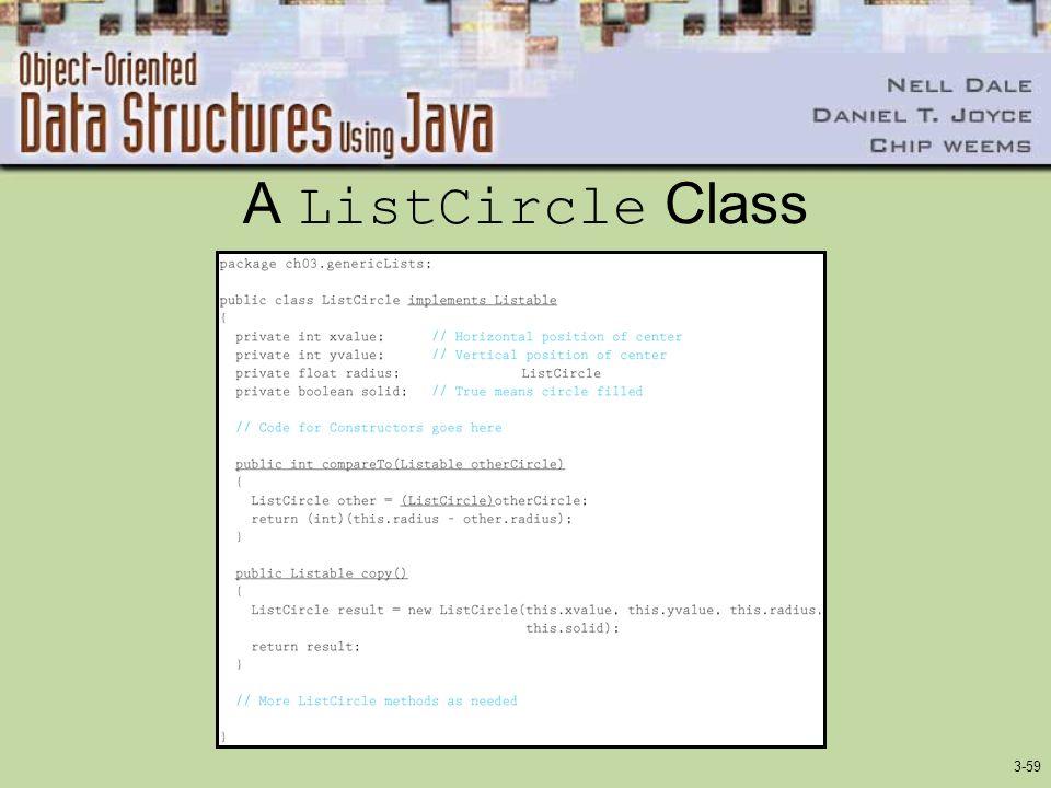 A ListCircle Class