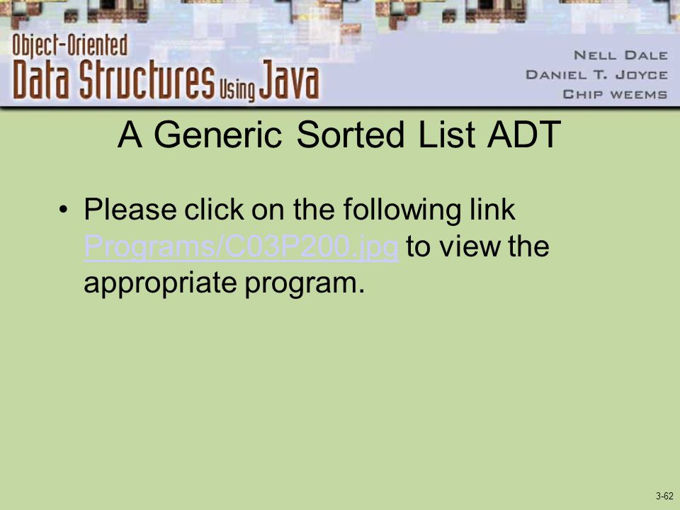 A Generic Sorted List ADT