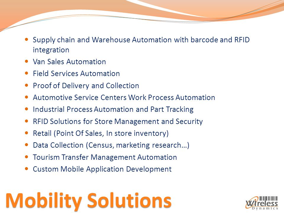 Supply chain and Warehouse Automation with barcode and RFID integration