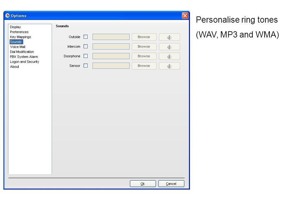 Personalise ring tones