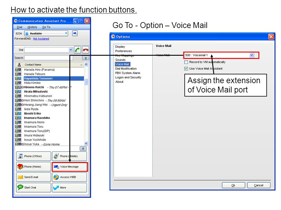 How to activate the function buttons.