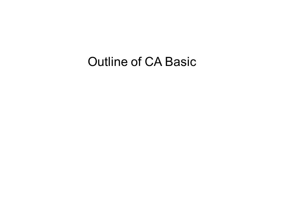 Outline of CA Basic