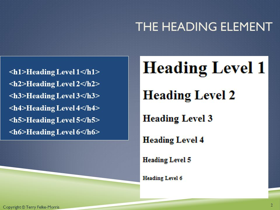 The Heading Element