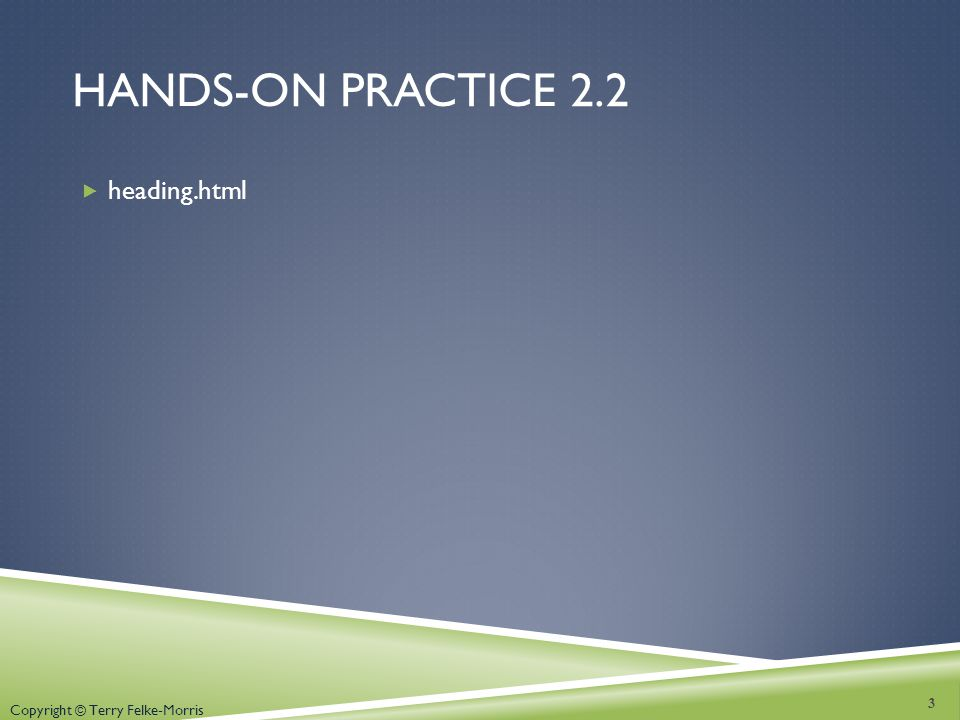 Hands-on practice 2.2 heading.html