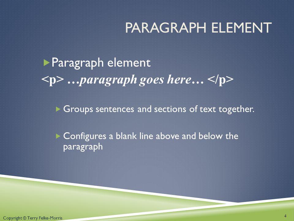 Paragraph Element Paragraph element