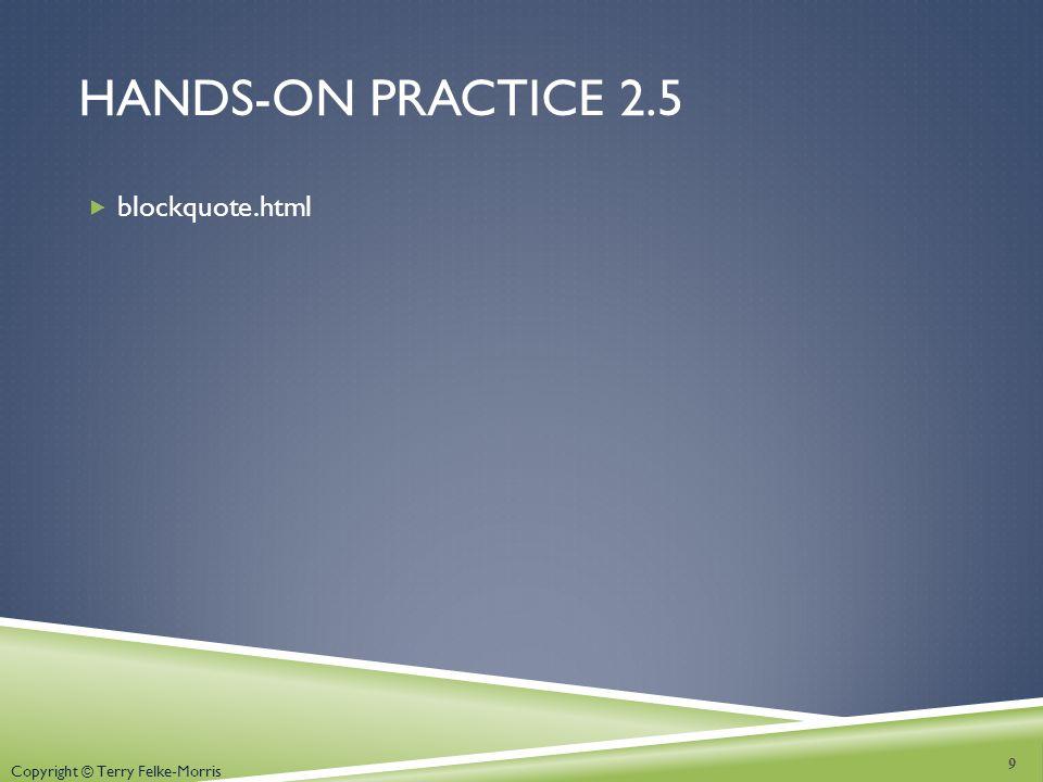 Hands-on practice 2.5 blockquote.html