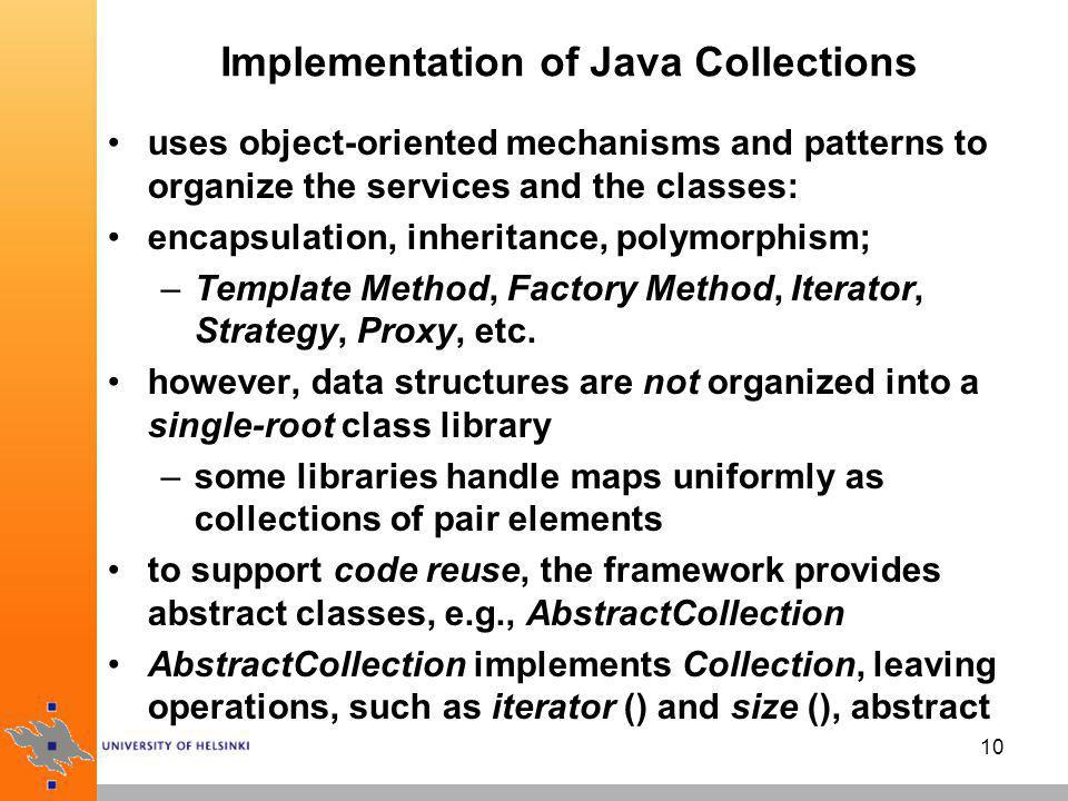 Implementation of Java Collections