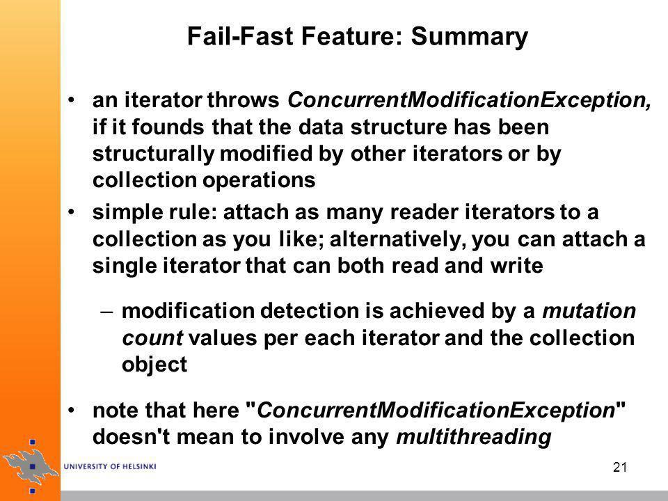 Fail-Fast Feature: Summary