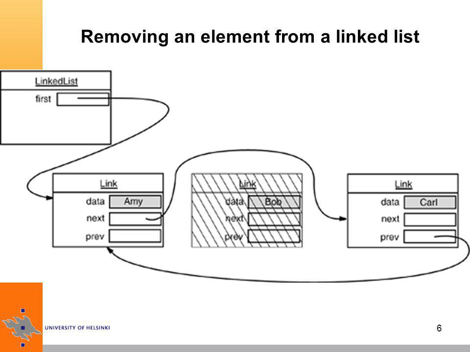 Removing an element from a linked list
