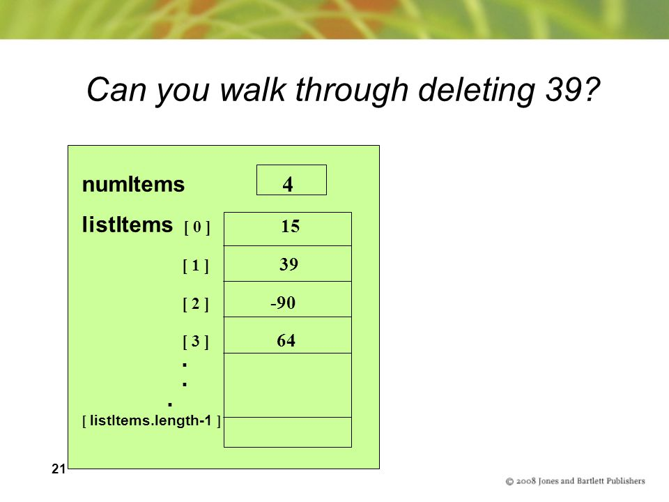 Can you walk through deleting 39