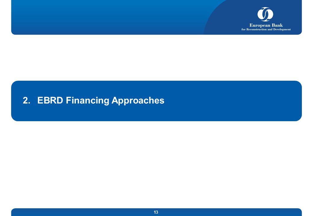 EBRD Financing Approaches