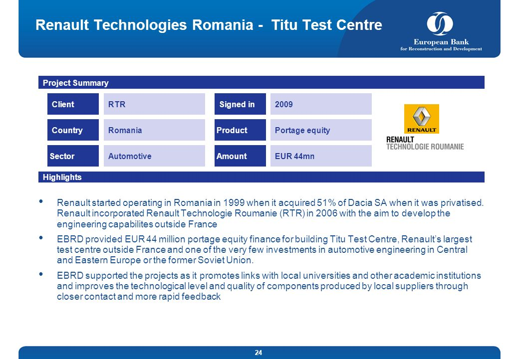 Renault Technologies Romania - Titu Test Centre