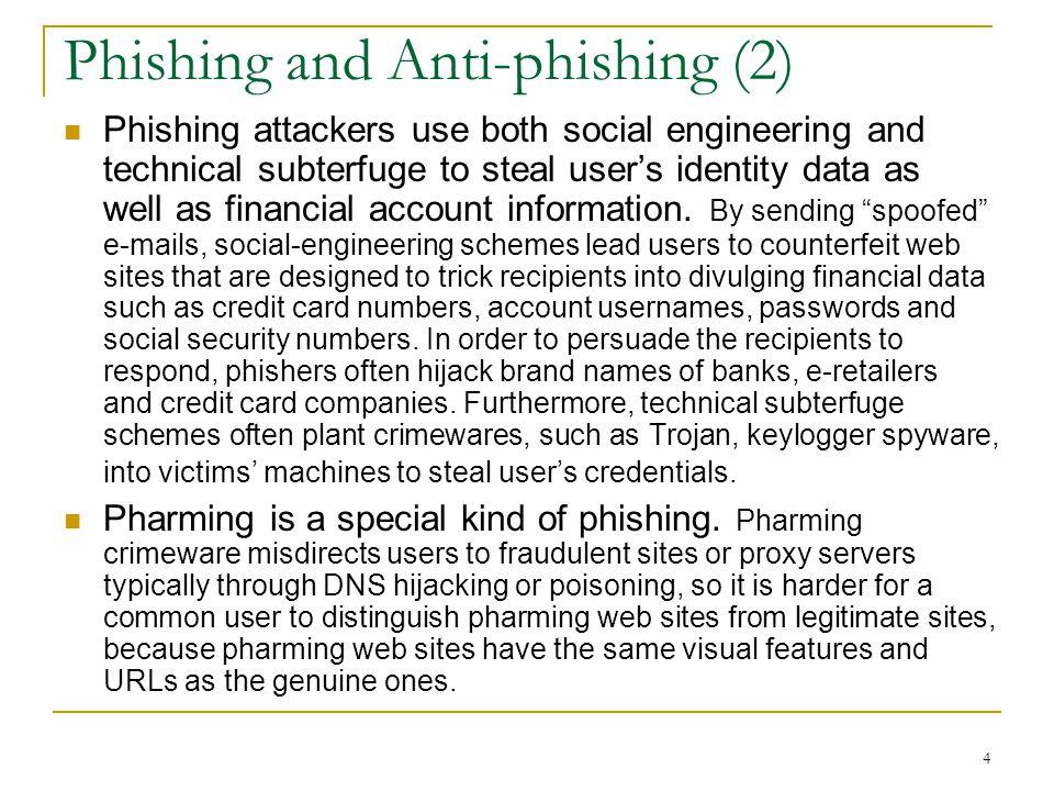 Phishing and Anti-phishing (2)