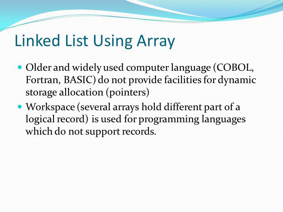 Linked List Using Array