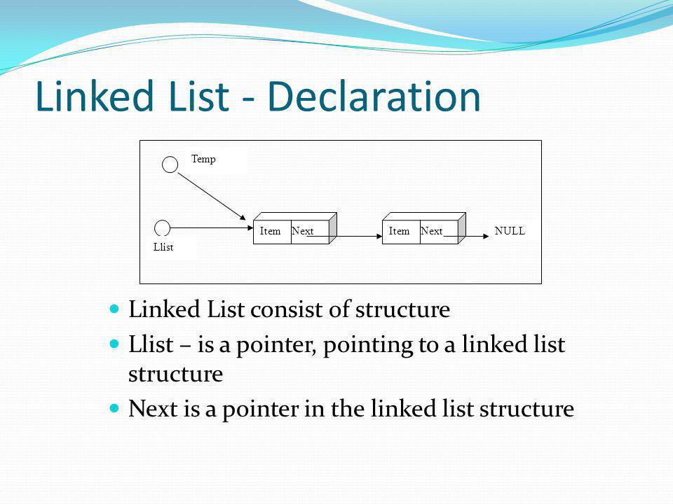 Linked List - Declaration