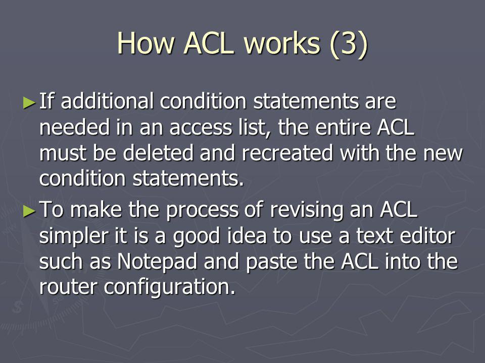 How ACL works (3)
