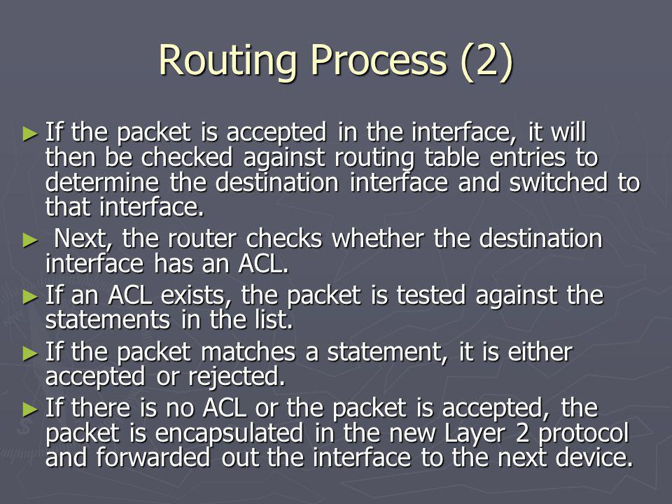 Routing Process (2)