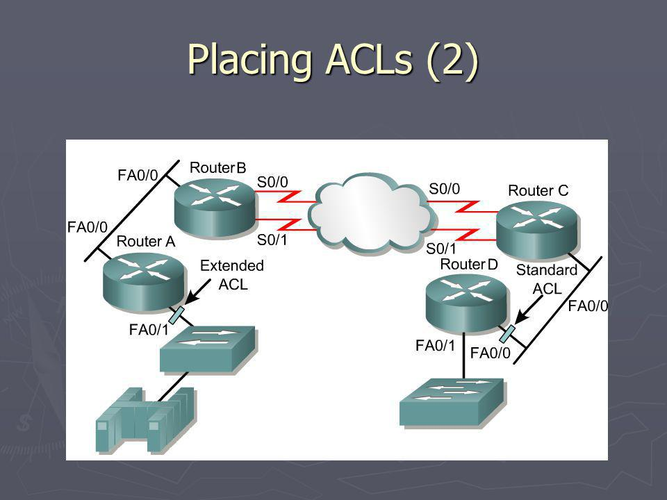 Placing ACLs (2)