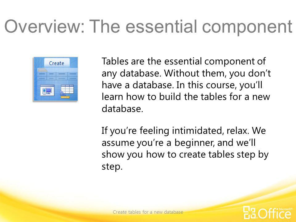 Overview: The essential component
