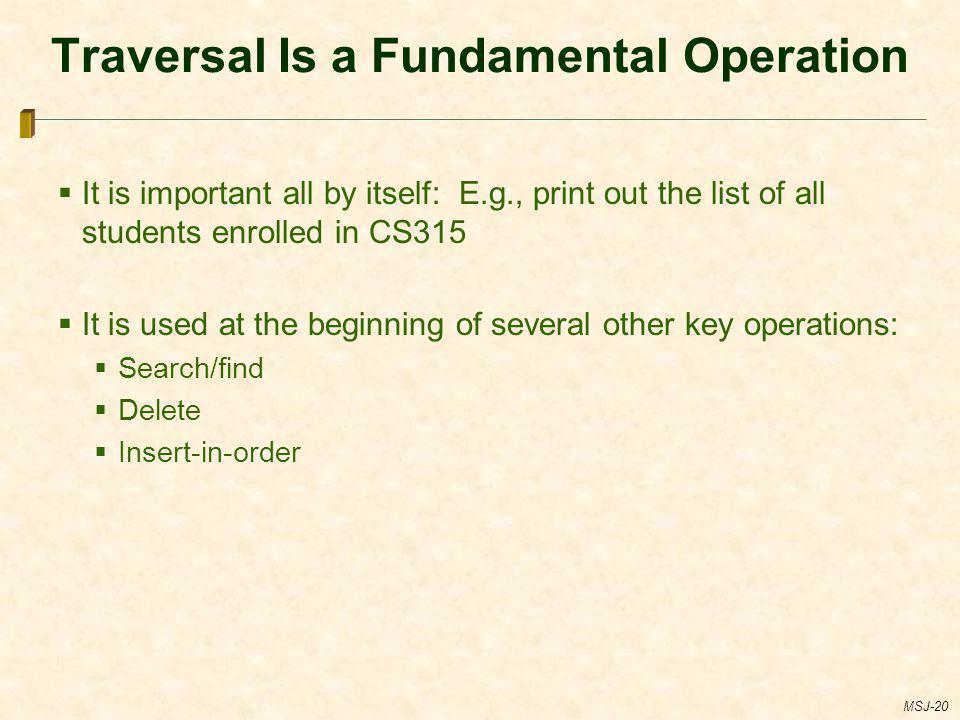 Traversal Is a Fundamental Operation