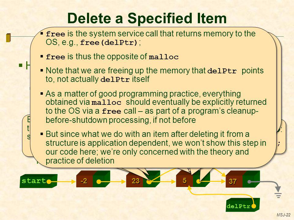 Delete a Specified Item