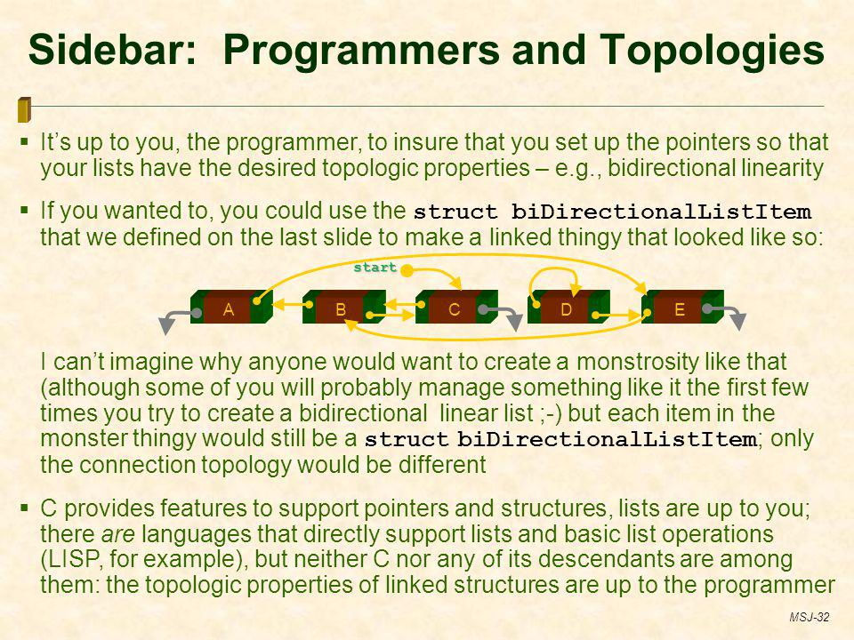 Sidebar: Programmers and Topologies