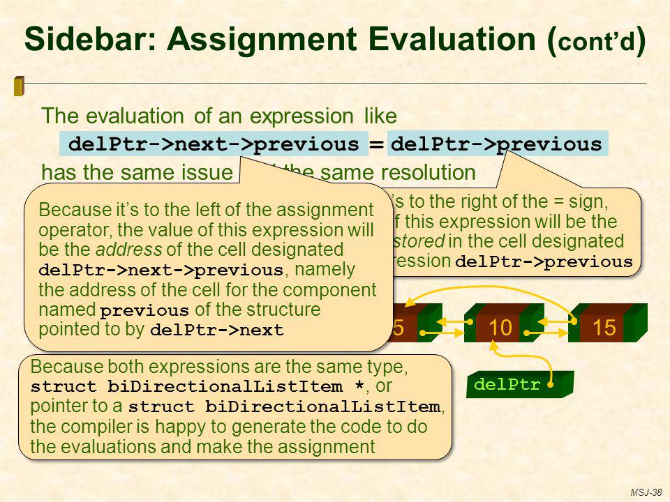 Sidebar: Assignment Evaluation (cont'd)