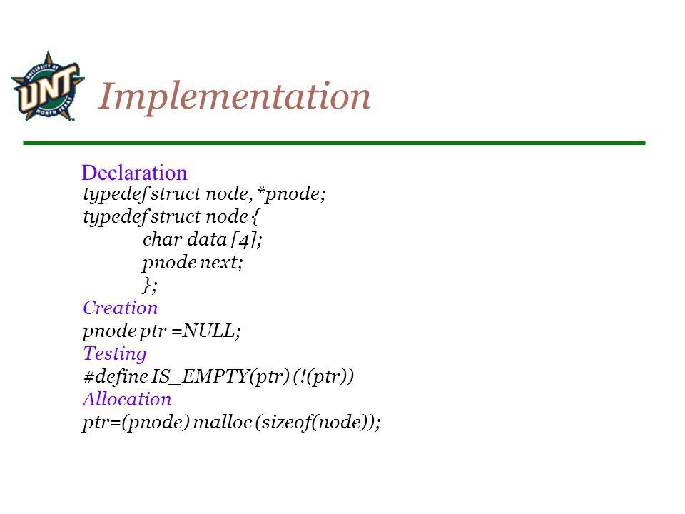 Implementation Declaration
