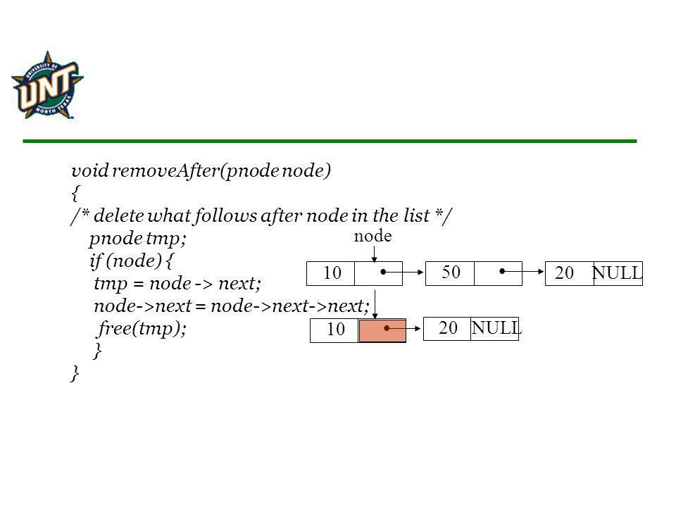 void removeAfter(pnode node) { /