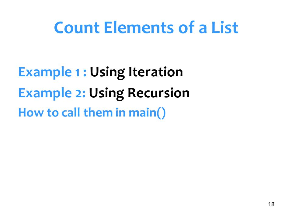 Count Elements of a List