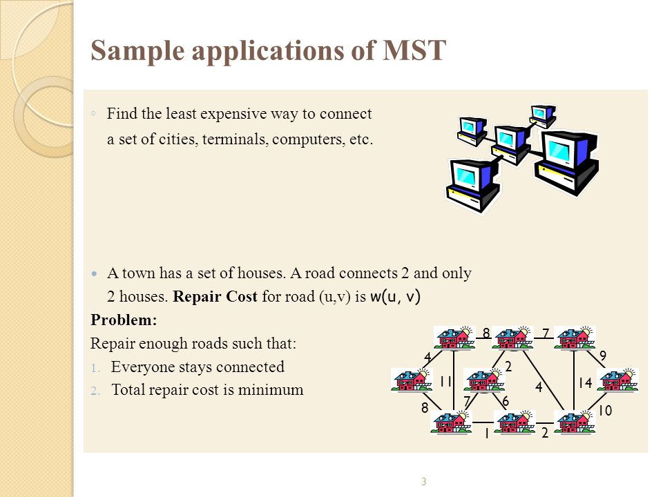 Sample applications of MST