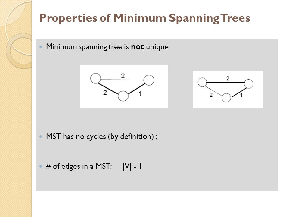 Properties of Minimum Spanning Trees