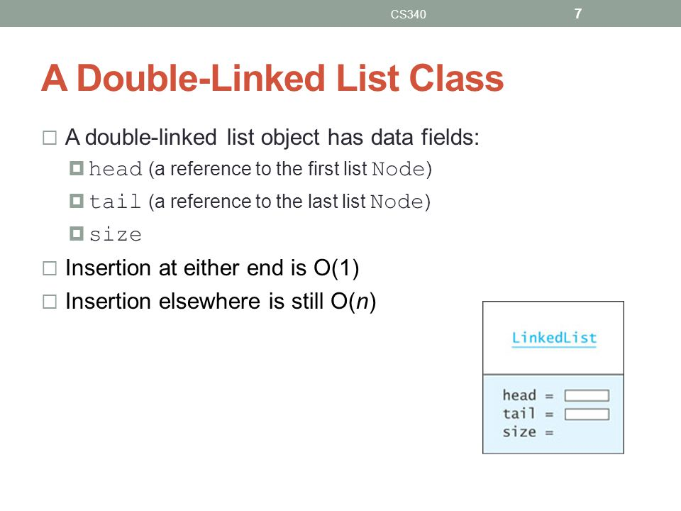 A Double-Linked List Class