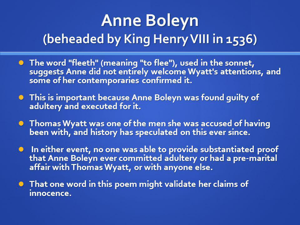 Anne Boleyn (beheaded by King Henry VIII in 1536)