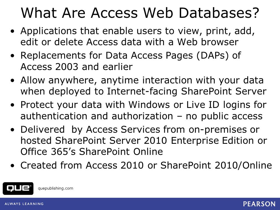 What Are Access Web Databases