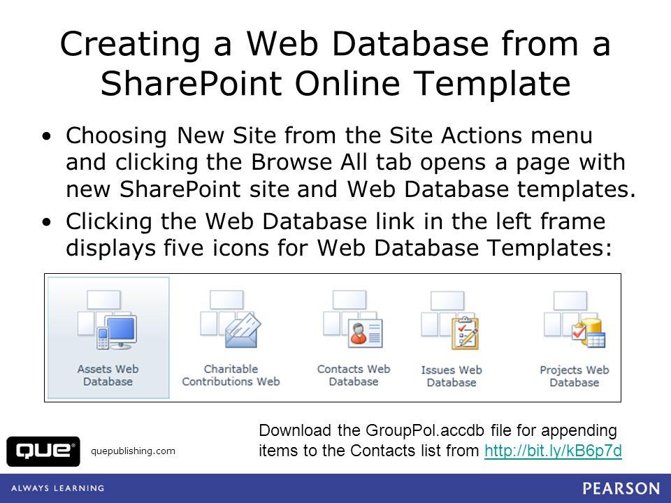 Creating sharepoint