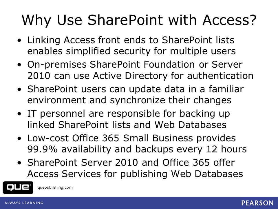 Why Use SharePoint with Access