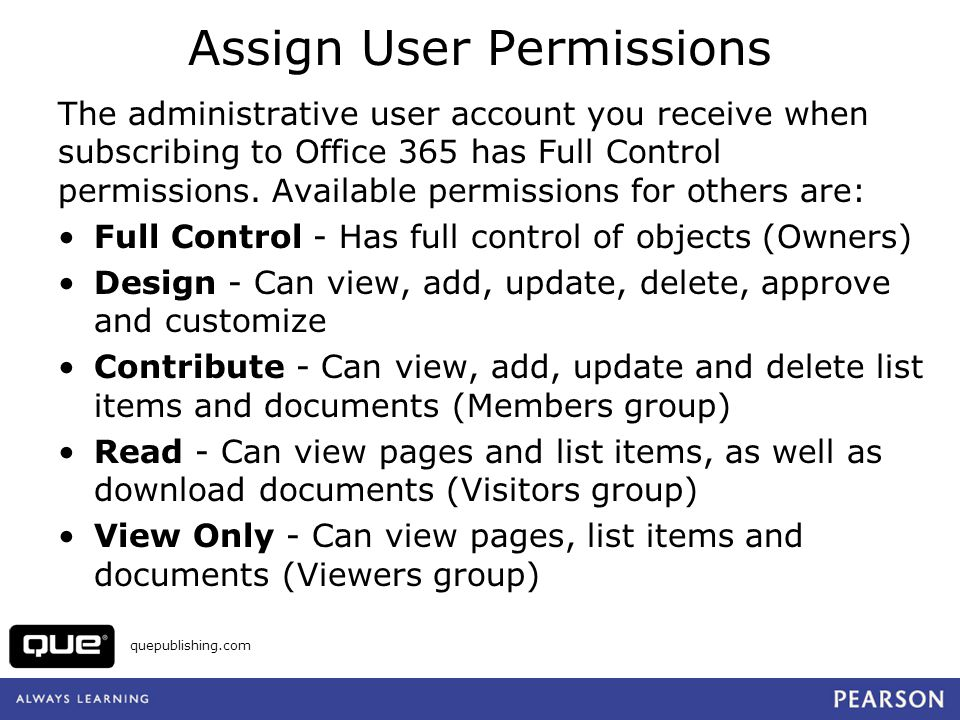 Assign User Permissions