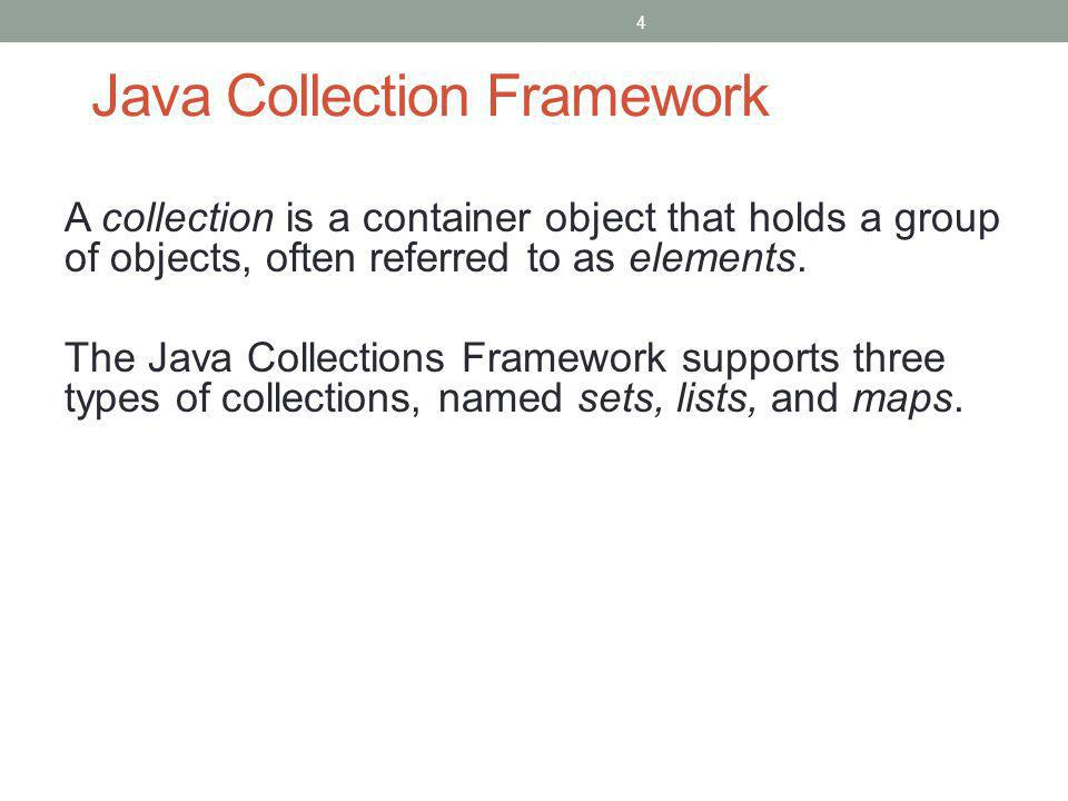 Java Collection Framework