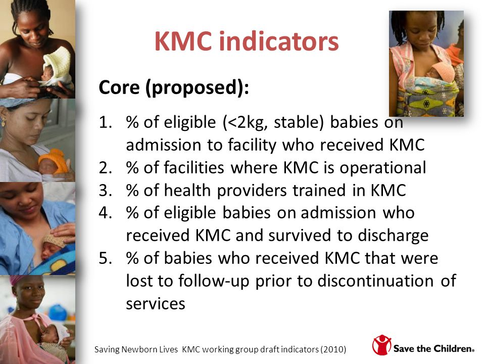 KMC indicators Core (proposed):