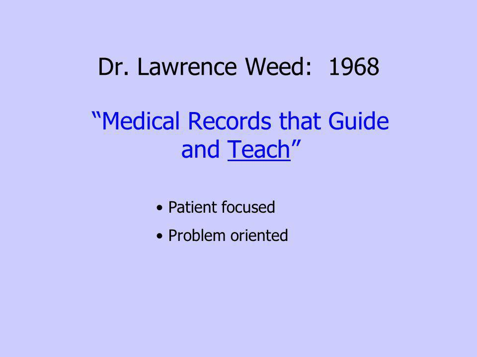 Medical Records that Guide and Teach