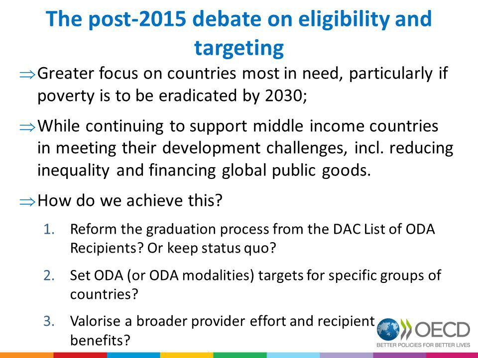The post-2015 debate on eligibility and targeting